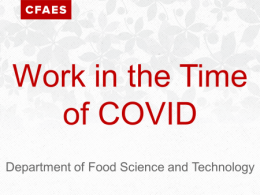 Work in the Time of COVID